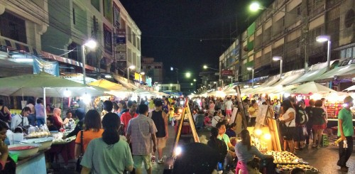 Walking Street or Night Market near Krabi Town
