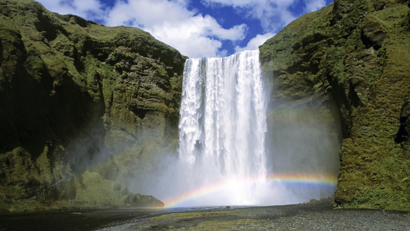 Skogafoss waterfall in  ICELAND where a part of the song Gerua was shot