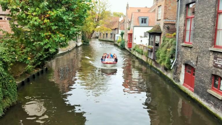 Vivid canals of BRUGES, BELGIUM