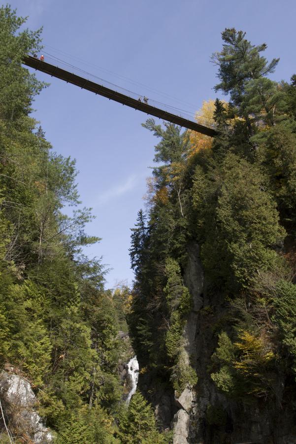 Bridge over Canyon Ste-Anne