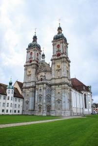 The famouse world heritage site Cathedral in St. Gallen Switzerland