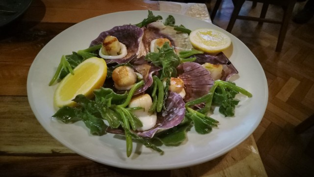 LOCAL MEAL - SCALLOPS WITH KARKALLA