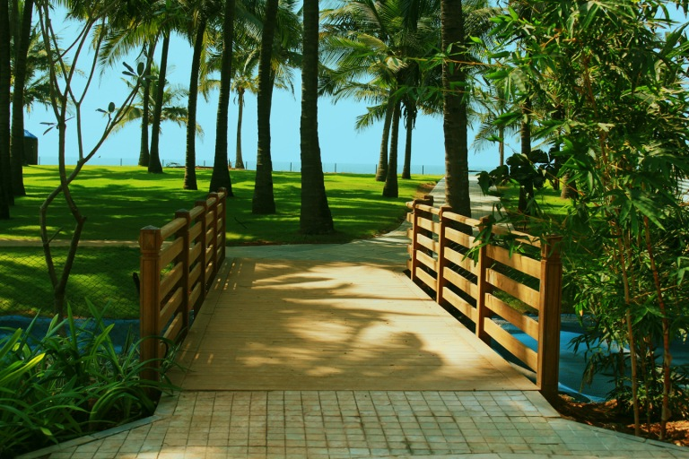 Way to the lawn and beach