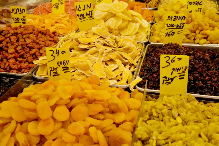 dried fruits at the shuk