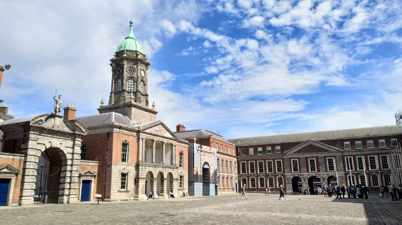 The grounds of Dublin Castle