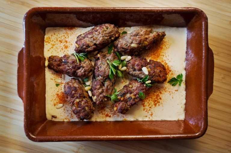 Kofta with tahina sauce