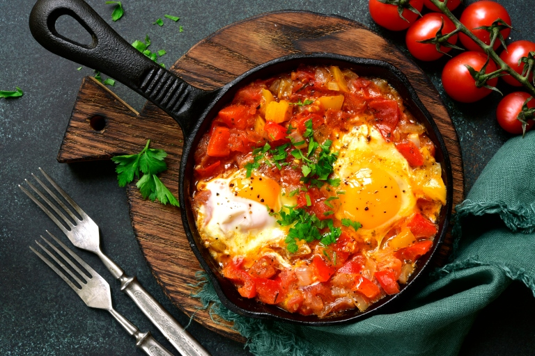 Shakshuka - eggs in tomato sauce