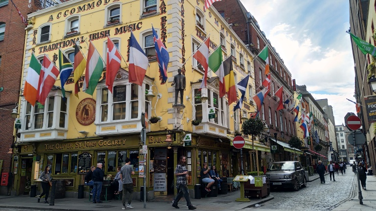 Temple Bar 4 - The Oliver St John Gogarty is a popular party spot in Temple Bar District