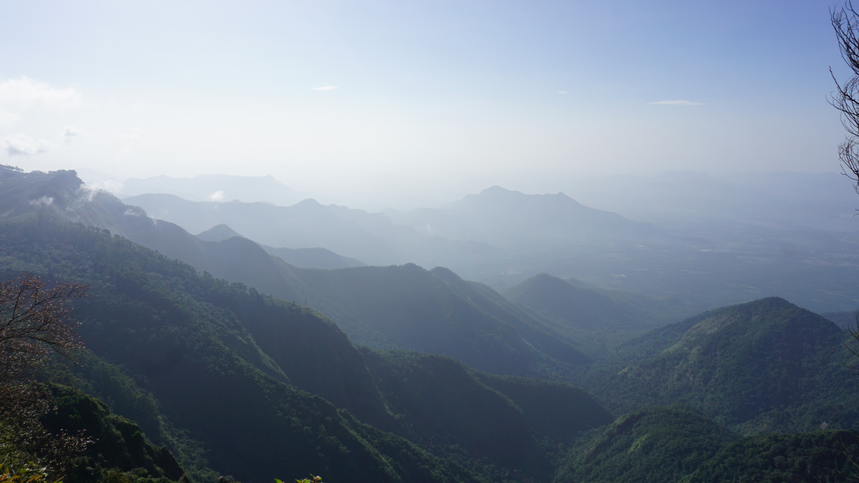 Layered hills of Kodaikanal