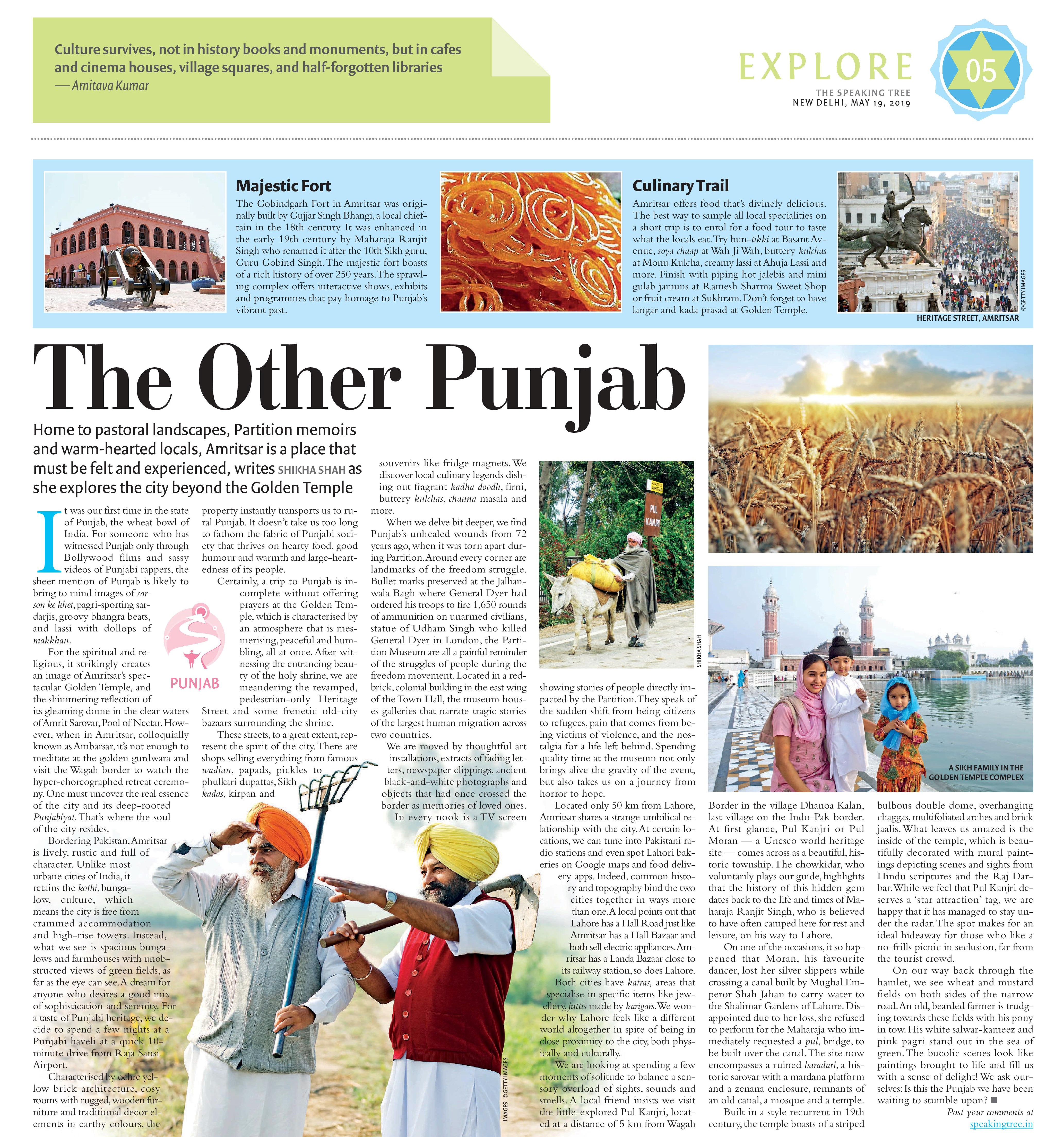 Amritsar travel piece - Speaking Tree - May 19-page-001 (2)