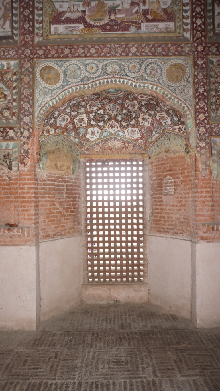 Exquisite paintins in a temple at Pul Kanjri