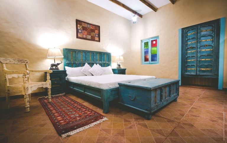 Rustic rooms at ranjitvillas