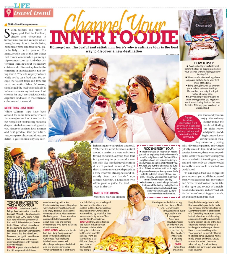 Food Tours story, Times Life, July 14, 2019