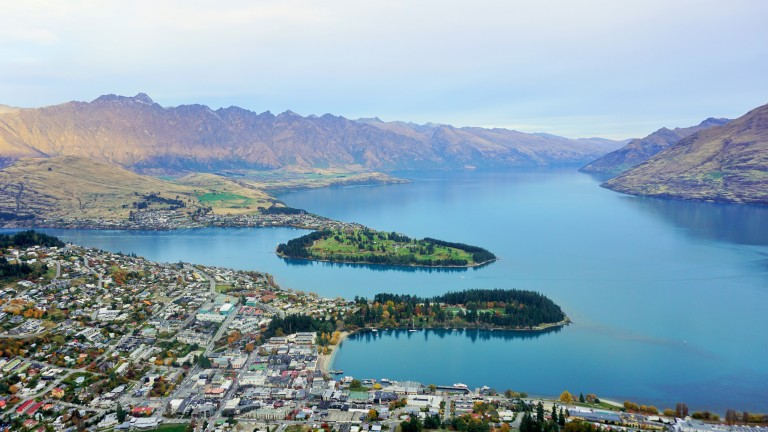 Queenstown from the Gandola top point