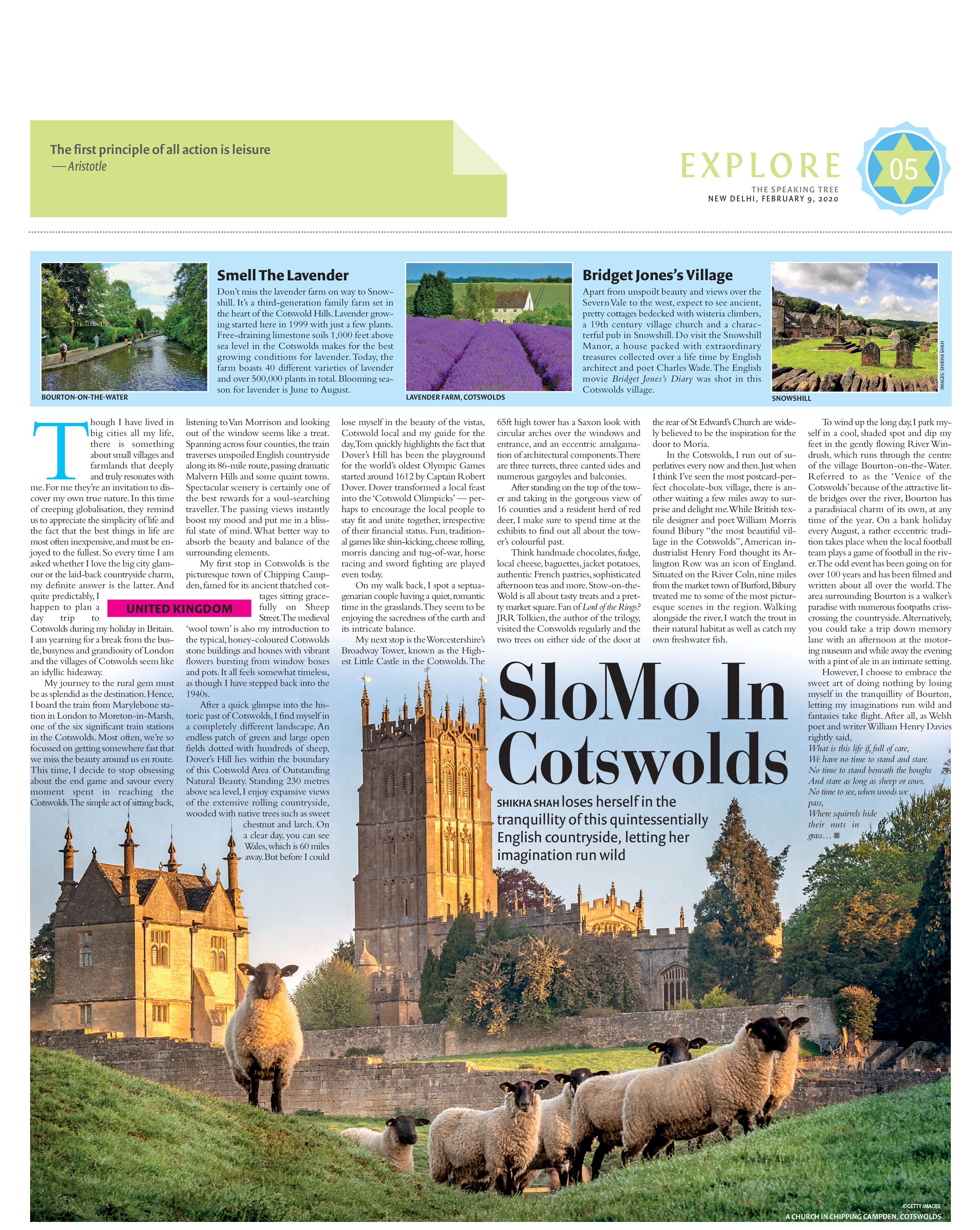 Cotswold, The Speaking Tree, TOI