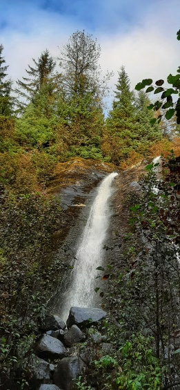 Little waterfalls in Tongass National Forest