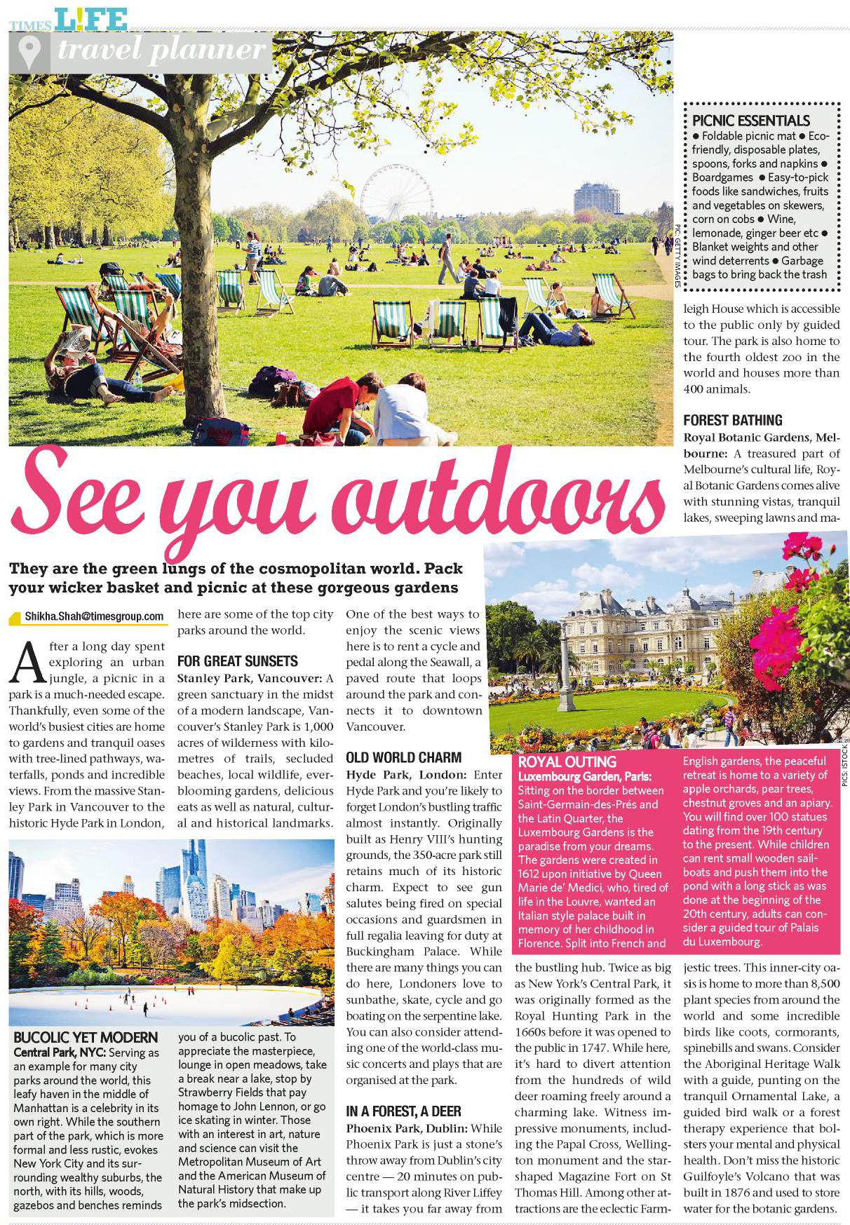 See you outdoors, City parks, Feb 2, 2020 - Times Life